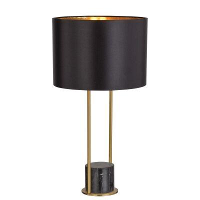 Desire Marble Base Table Lamp, Black