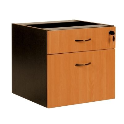 Logan Drawer & File Combo Storage Chest, Beech / Black