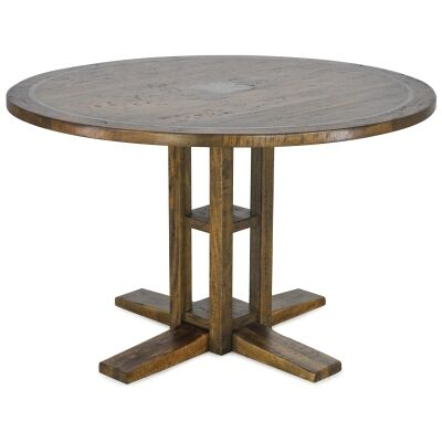 Jersey Mango Wood Round Dining Table, 120cm