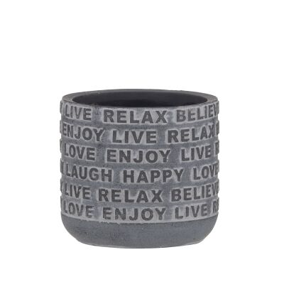 Relaxed Novelty Cement Pot, Small
