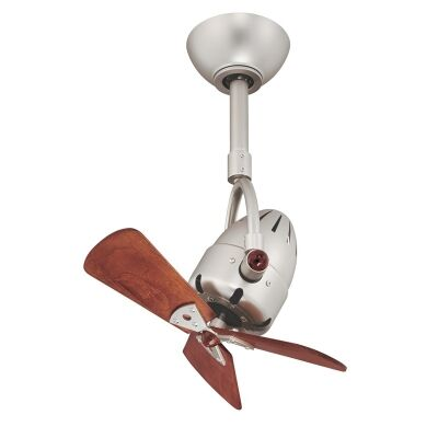 Atlas Diane Commercial Grade Solid Wood Ceiling Fan - Brushed Nickel