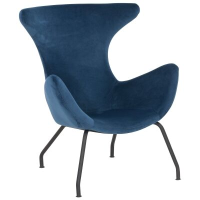 Crombie Velvet Fabric Leisure Armchair