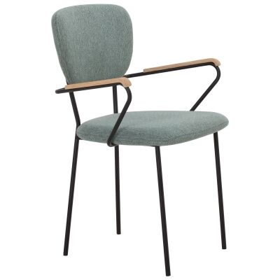 Kelby Fabric & Metal Dining Armchair