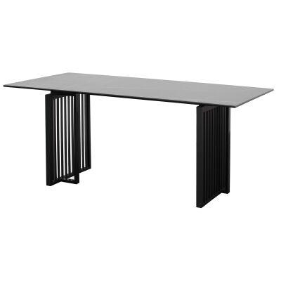Helga Ceramic Glass Top Dining Table, 180cm