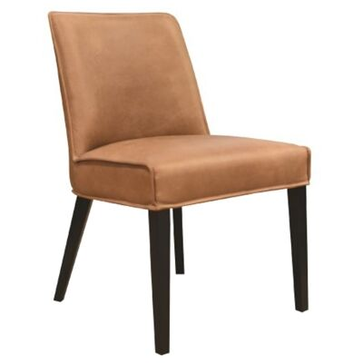 Manchelar Leather Dining Chair, Vintage Tan / Midnihgt