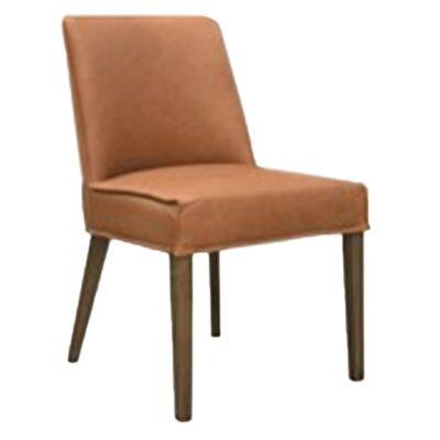 Manchelar Leather Dining Chair, Vintage Tan / Smoke