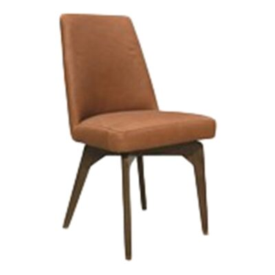 Charlotte Leather Dining Chair, Vintage Tan / Smoke