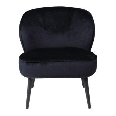Qudos Velvet Fabric Occasional Chair, Ink