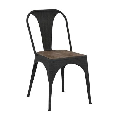 Cayo Solid Acacia Timber and Metal Dining Chair