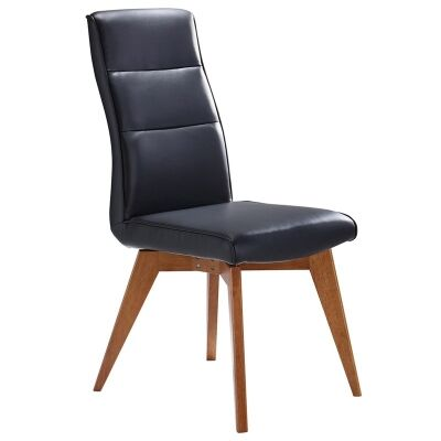 Avoca Sheeva PU Leather Dining Chair - Black