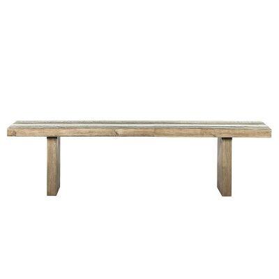 Creighton Solid Acacia Timber Dining Bench, 200cm