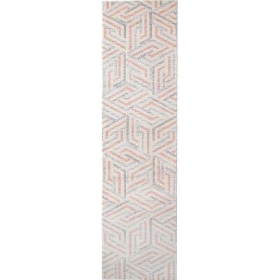 Divinity Link Turkish Made Modern Runner Rug, 400x80cm, Pink