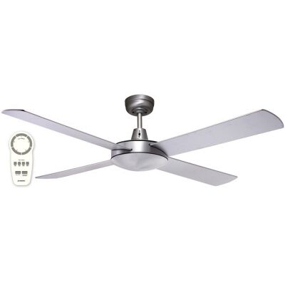 """Martec Lifestyle DC Ceiling Fan with Remote, 130cm/52"""", Brushed Nickel"""