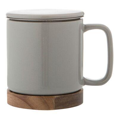 Leaf & Bean Soren Ceramic Tea Mug, Grey