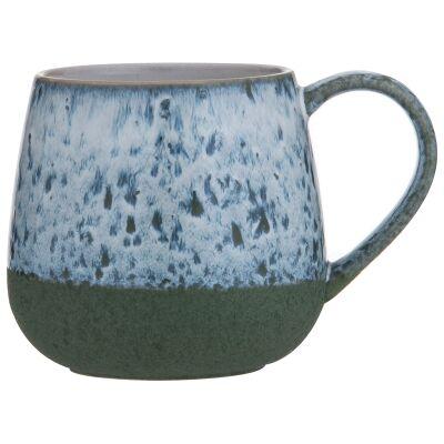 Leaf & Bean Milan Reactive Glaze Ceramic Mug, Green