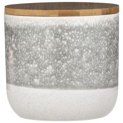 Capri Reactive Glazed Ceramic Canister