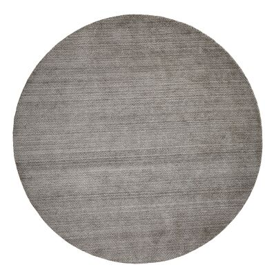 Damas Dots Handwoven Wool Round Rug, 300cm, Grey