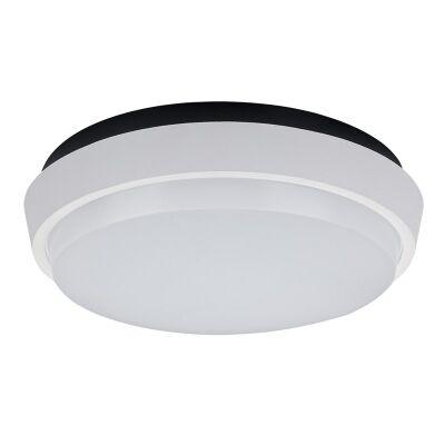 DISC-175 IP54 Exterior Round Warm White LED Celling Light - White
