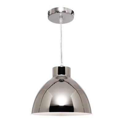 Dome Metal Pendant Lighting, Chrome
