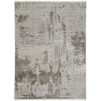 Dragos Abstract Modern Rug, 150x80cm, Cream / Beige