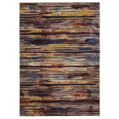 Dreamscape Strokes Turkish Made Modern Rug, 330x240cm, Raspberry