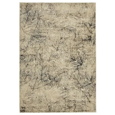 Dreamscape Artistic Nature Turkish Made Modern Rug, 230x160cm, Beige / Charcoal