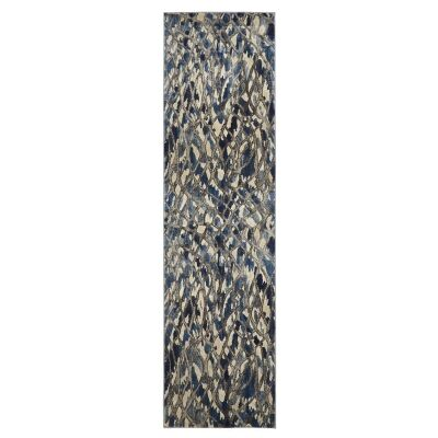 Dreamscape Ropes Turkish Made Modern Runner Rug, 400x80cm, Blue