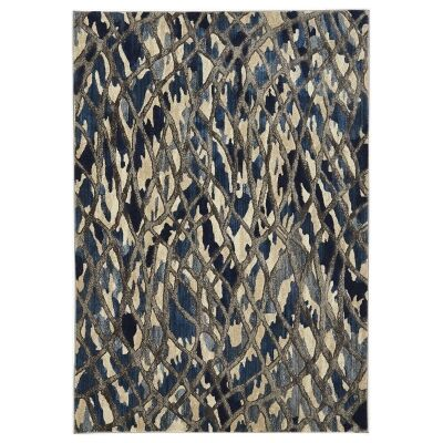 Dreamscape Ropes Turkish Made Modern Rug, 330x240cm, Blue