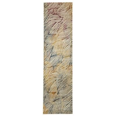 Dreamscape Surface Turkish Made Modern Runner Rug, 400x80cm, Multi