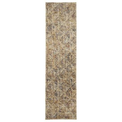 Dreamscape Movement Turkish Made Modern Runner Rug, 400x80cm, Multi
