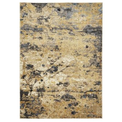 Dreamscape Tribute Turkish Made Modern Rug, 400x300cm, Amber / Charcoal