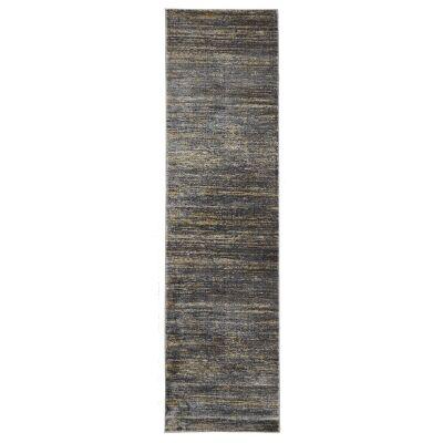 Dreamscape Distinguish Turkish Made Modern Runner Rug, 300x80cm, Slate