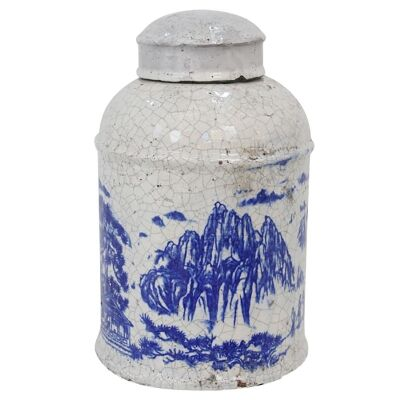 Nanjing Terracotta Lidded  Jar - Medium