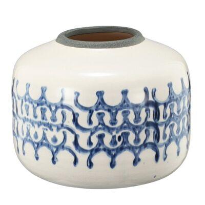 Shibori Ceramic Pot