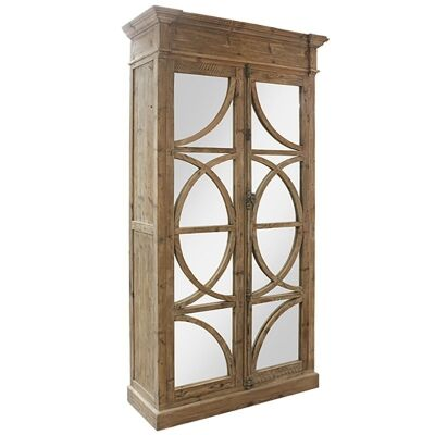 Keats Reclaimed Pine Timber and Mirror Armoire