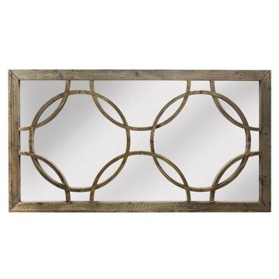 Keats Reclaimed Elm Timber Wall Mirror