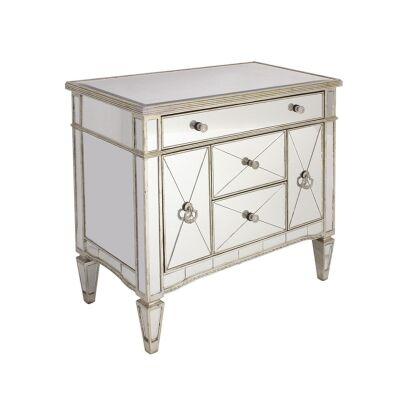 Cassidy Mirrored 2 Door 3 Drawer Cabinet