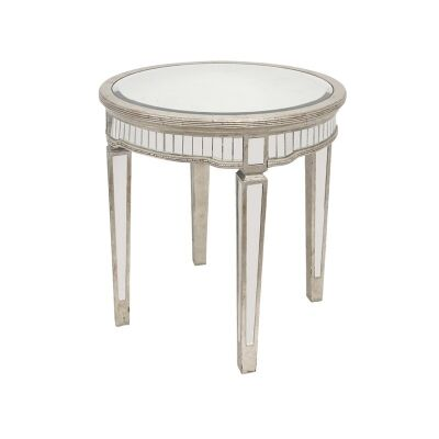 Cassidy Mirrored Round Occasional Table