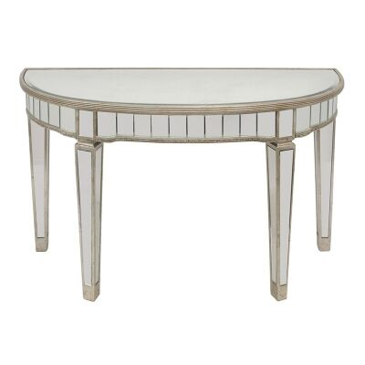 Cassidy Mirrored 117cm Semi Circle Console Table