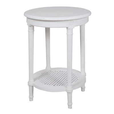 Polo Wooden Round Occassional Table - White