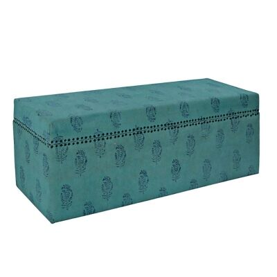 Fana Cotton 120cm Storage Trunk - Turquoise
