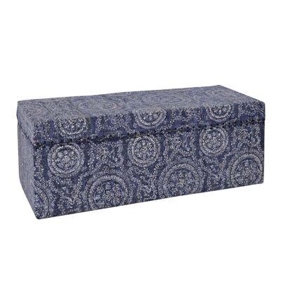 Fana Cotton 120cm Storage Trunk - Faded Indigo
