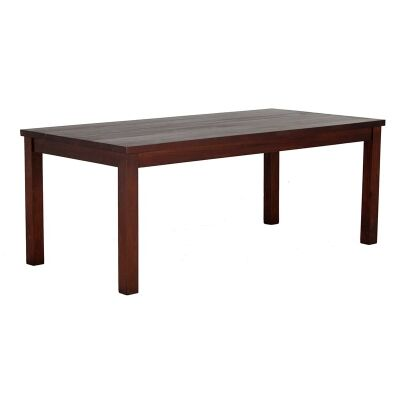 RPN Solid Mahogany Timber 200cm Dining Table - Mahogany