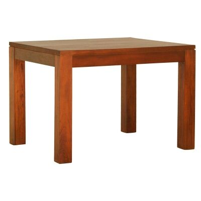 Amsterdam Solid Mahogany Timber 90cm Square Dining Table - Light Pecan