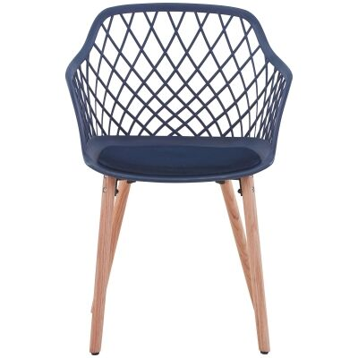 Atalia Carver Dining Chair, Blue