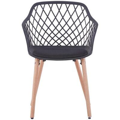 Atalia Carver Dining Chair, Black