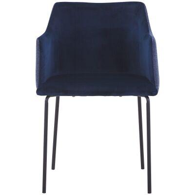 Anki Fabric Dining Armchair, Blue