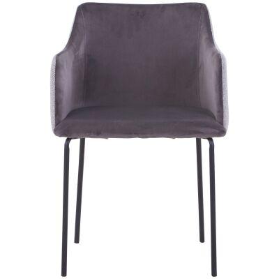Anki Fabric Dining Armchair, Grey