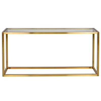Alistair Glass & Stainless Steel Console Table, 160cm