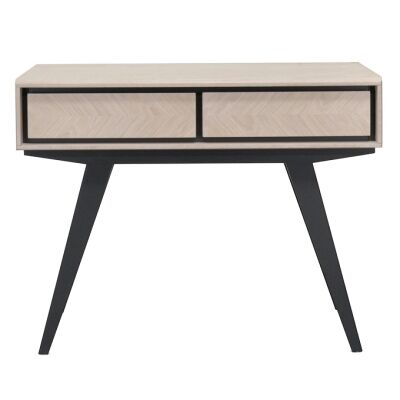 Jersore Wooden 2 Drawer Console Table, 110cm